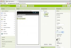App Inventor versie 2 - Designer