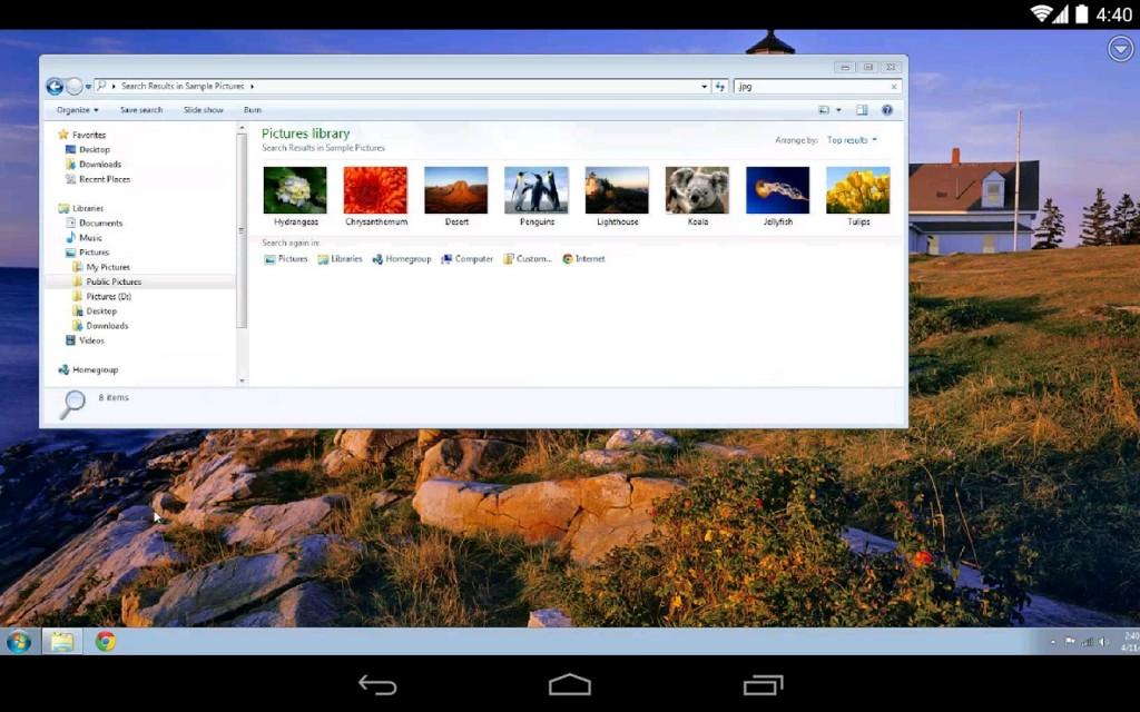 Chrome Remote Desktop app